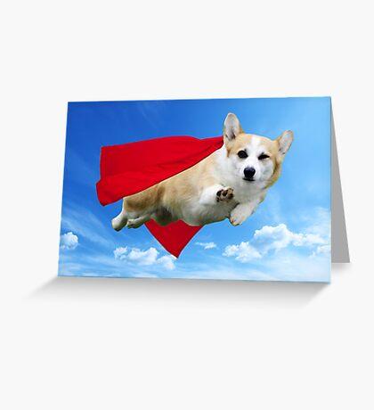 Super Corgi Greeting Card