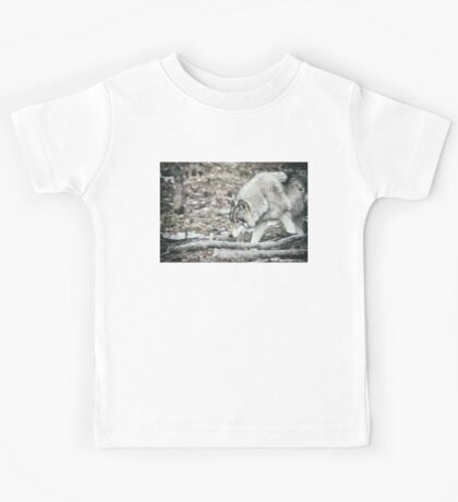 Timber Wolf Onto Something Kids Tee