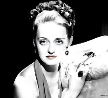 Bette Davis Portrait by Gabriel T Toro