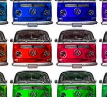 MULTI COLORS VW Combi Sticker