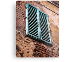 Shuttered window, Siena, Italy Metal Print