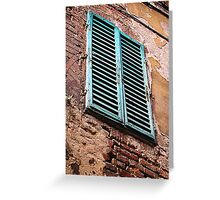 Shuttered window, Siena, Italy Greeting Card