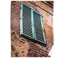 Shuttered window, Siena, Italy Poster