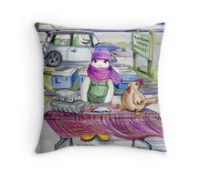 January-Year Round Markets Throw Pillow