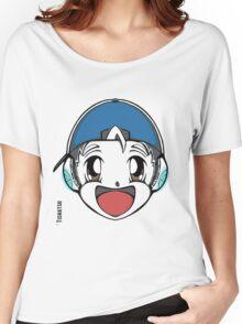The Original Tishatsu Logo - Note, music, cute, face, anime, chibi, manga,  Women's Relaxed Fit T-Shirt
