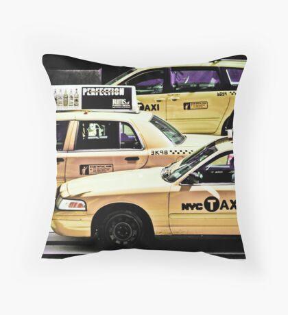 NYC Taxi Cabs Throw Pillow