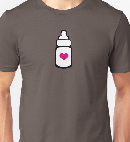 Milk bottle with heart Unisex T-Shirt