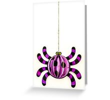 Funny Spider Greeting Card