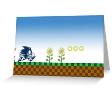 Sonic (Blue)  Greeting Card