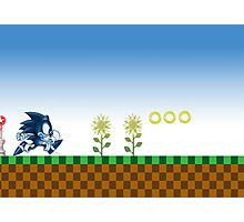 Sonic (Blue)  Photographic Print