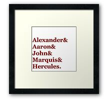 Tomorrow There'll Be More of Us- First names Framed Print