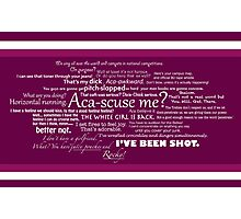 Pitch Perfect Quotes Poster -  PINK Photographic Print