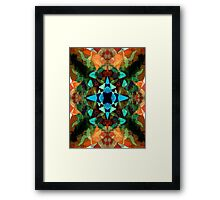 Abstract Inkblot Pattern Framed Print
