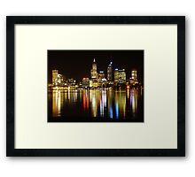 Perth skyline at night Framed Print