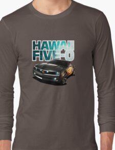Hawaii Five-O Black Camaro (White Outline) Long Sleeve T-Shirt