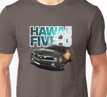 Hawaii Five-O Black Camaro (White Outline) Unisex T-Shirt