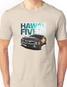 Hawaii Five-O Black Camaro (White Outline) Unisex T-Shirt