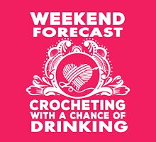 CROCHETING WITH DRINKING Womens Fitted T-Shirt
