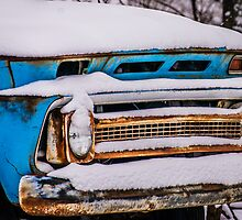 Old Chevy Pickup with Snow by Mike Koenig