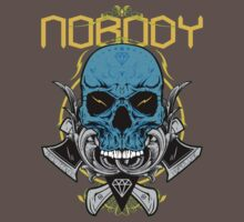 Nobody skull t-shirt stamp by Patrikadze