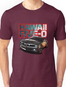Hawaii Five-O Black Camaro (Red Outline) Unisex T-Shirt