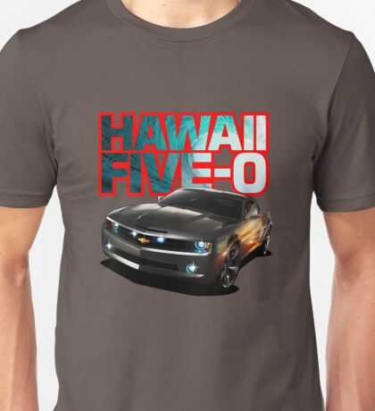 Hawaii Five-O Black Camaro (Red Outline) Unisex T-Shirt