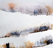 Mount Royal #2, Montreal, watercolour by Edith Dora Rey