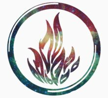 Divergent - Dauntless Symbol Galaxy Nebula by Brittney Walker