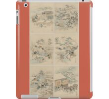 Early 1800s Japanese Drawings of Chūshingura (忠臣蔵) Orange Background iPad Case/Skin