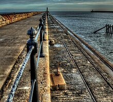 Tynemouth Harbour Wall by Andrew Pounder