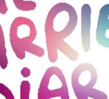 The Carrie Diaries Purple Galaxy Nebula  Sticker