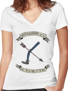 i used to be an adventurer like you Women's Fitted V-Neck T-Shirt