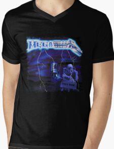 Megatallica - Peace Lightning... But Who's Riding Shirt Mens V-Neck T-Shirt