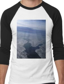 Flight Over Frozen Waters Men's Baseball ¾ T-Shirt