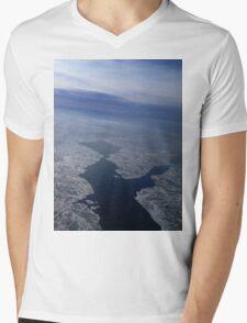 Flight Over Frozen Waters Mens V-Neck T-Shirt