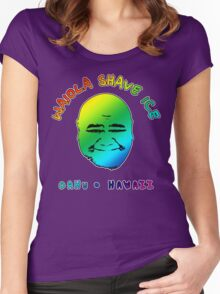 Waiola Shave Ice (Rainbow) Women's Fitted Scoop T-Shirt