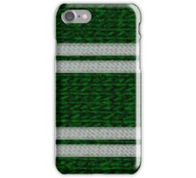 Knitted Scarf - Slytherin iPhone Case/Skin