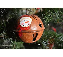 Snowman Bauble Photographic Print