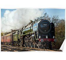 BR Britannia Class 7MT 4-6-2 no 70013 Oliver Cromwell Poster