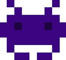 CHEAP purple space invader retro by theCHEAPone