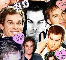 Michael C. Hall (Collage) by Crystal Friedman