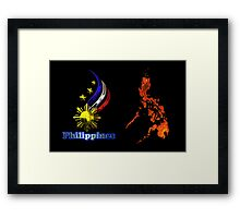 Philippine map logo Framed Print
