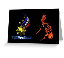 Philippine map logo Greeting Card