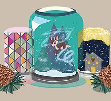 Snowglobe Jars by Chiascure