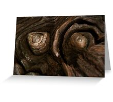 Knot on wood Greeting Card