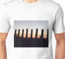 Beach Fence at Sunset Unisex T-Shirt
