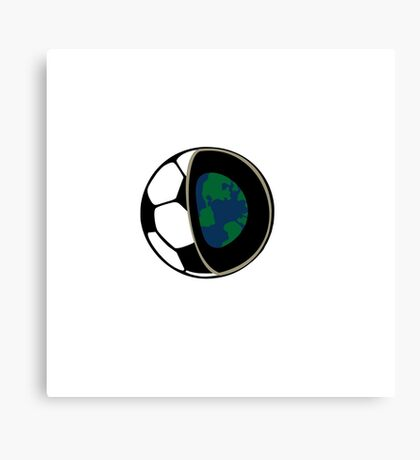 Football earth  Canvas Print