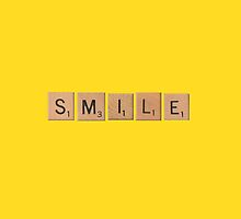Smile Scrabble Letters by Sarah Champ