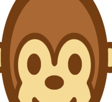 Smiling Monkey Sticker