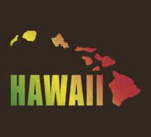 Hawaiian Islands (Vintage Distressed Design) by robotface